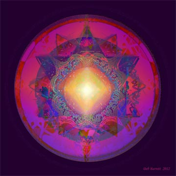 Use this mandala  to amplify your inner light.