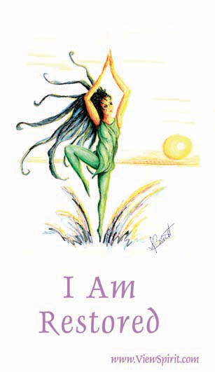 I Am Restored from the Deck of I AM by Deb Barrett
