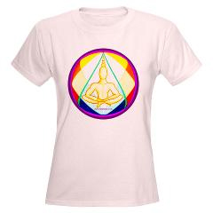 yoga calm T-shirt design by Deb Barrett, Blessing Chair Visions