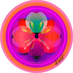 Seed of Life Flower a life affirming symbol.