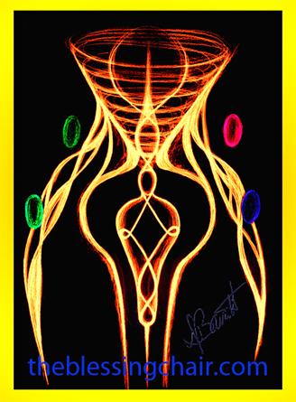 Symbolic image of group energy transfer at Sound Therapeutics, Deb Barrett's Sound Studio, Duxbury, Ma.
