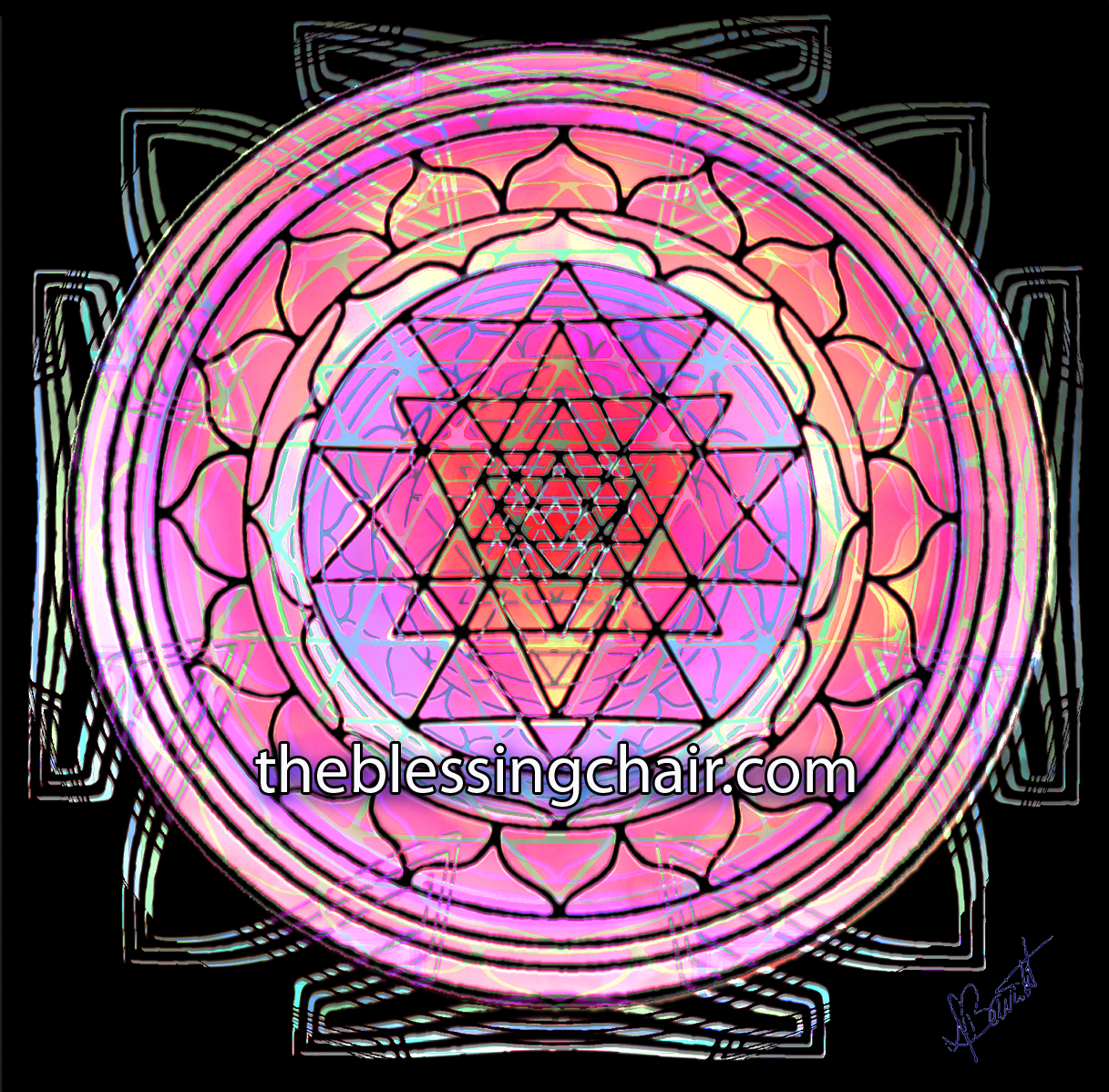 Sri Yantra A 12000 Year Old Symbol The Blessing Chair